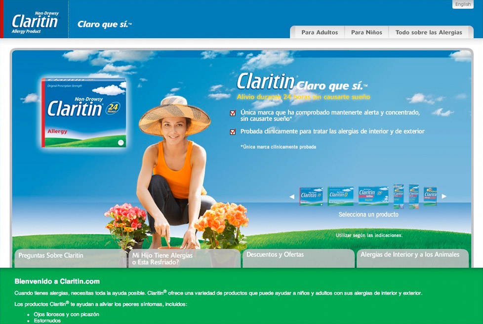 Claritin Hispanic Market - Website