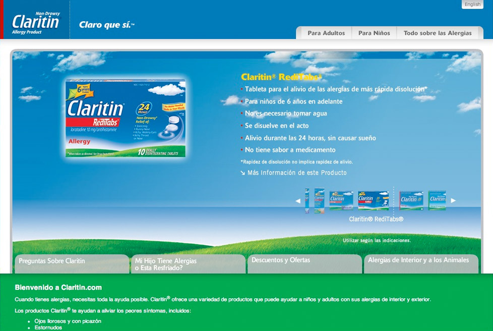 Claritin Hispanic Market - Home