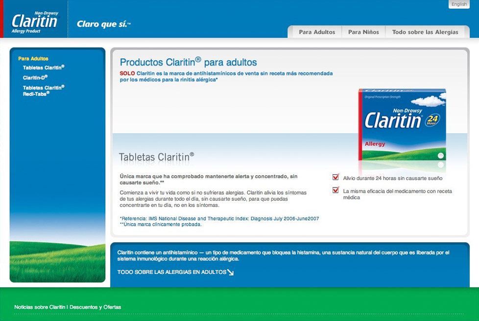 Claritin Hispanic Market - Product