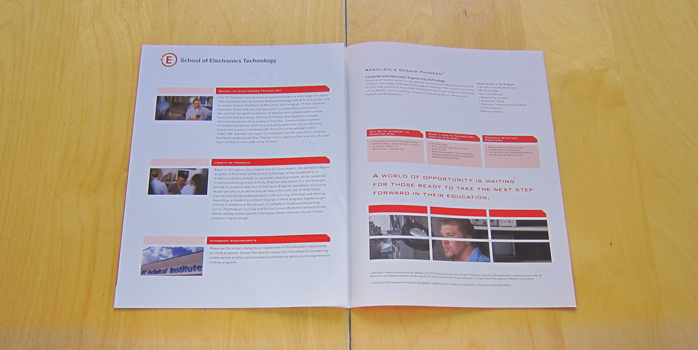 ITT Tech School Brochure Interior 2page