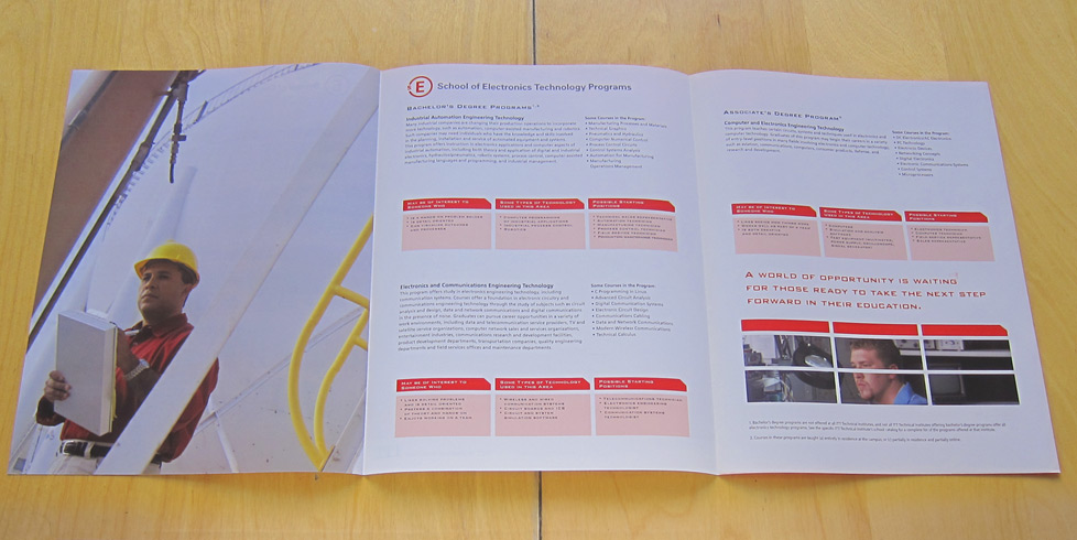 ITT Tech School Brochure Interior 3page
